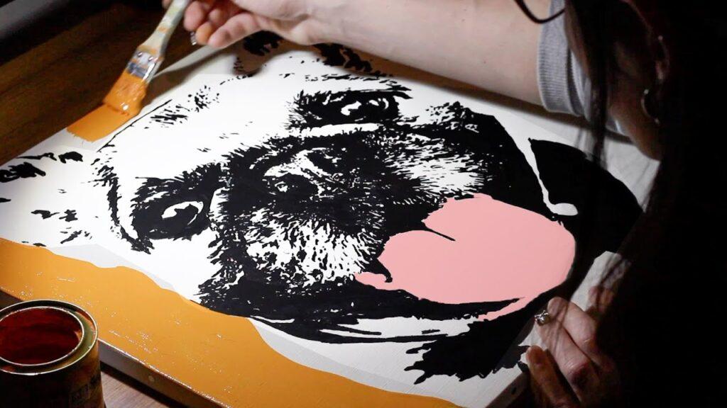 ブレンチブルドッグ アート French bulldog Art ご依頼作品
