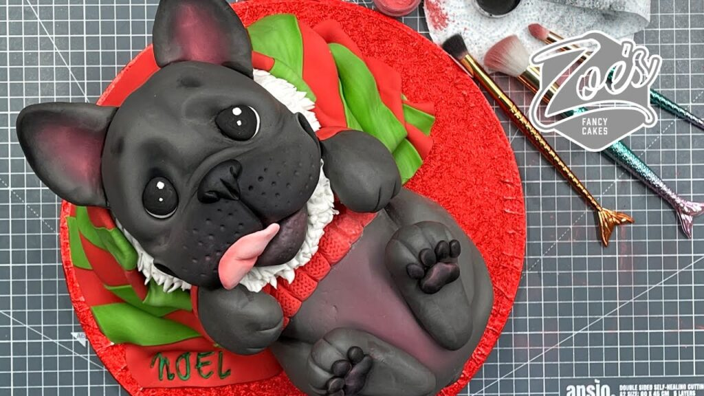 Cute French Bulldog cake tutorial