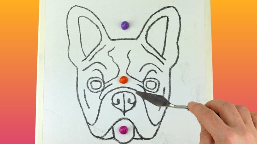French Bulldog Acrylic Satisfying Painting Step by Step | Palette knife techniques Demonstration