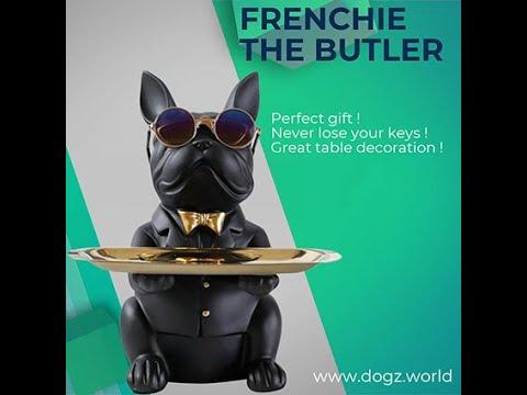 French Bulldog Butler Statue