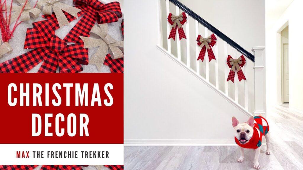 French Bulldog Christmas Decorate with Me | Frenchie Trekker TV フレンチブルドッグ