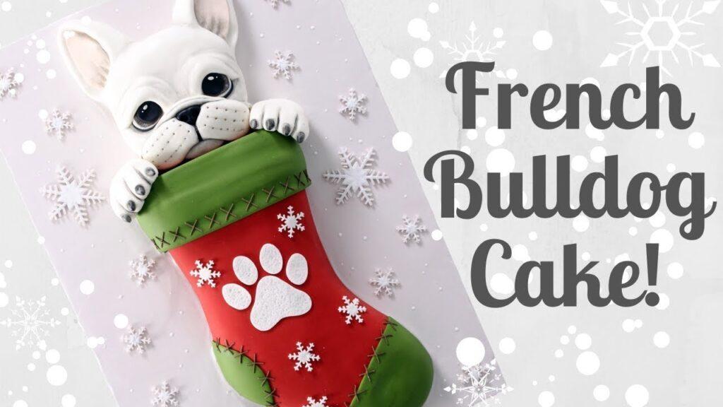 French Bulldog Christmas Puppy Cake Tutorial! | AMAZING HOLIDAY CAKES