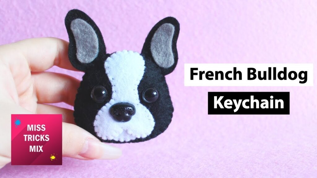 French Bulldog Felt Keychain Plush